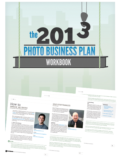PhotoShelter's new 2013 Photo Business Plan Workbook