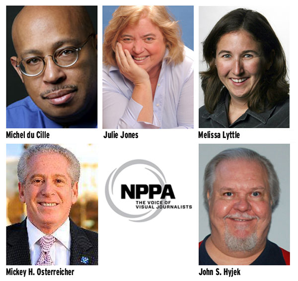 Michel du Cille, Julie Jones, Melissa Lyttle, Mickey H. Osterreicher, and John S. Hyjek are some of this year's winners of NPPA's top honors.