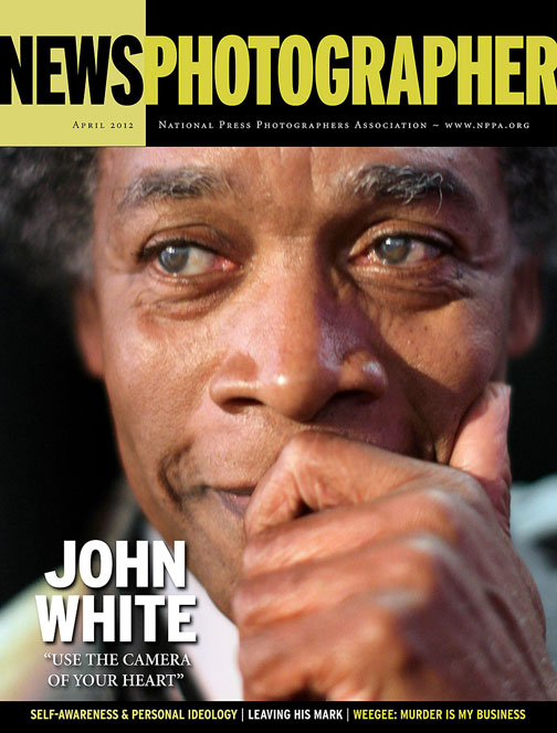 Sun-Times photographer John H. White was featured on the April 2012 cover of News Photographer magazine. Photograph by Scott Strazzante