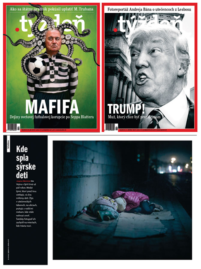 Róbert Csere of .týždeň magazine has been named – for the remarkable sixth time – NPPA's Best Of Photojournalism Magazine Picture Editor of the Year. The publication .týždeň is a news magazine printed in Slovakia, in Central Europe.