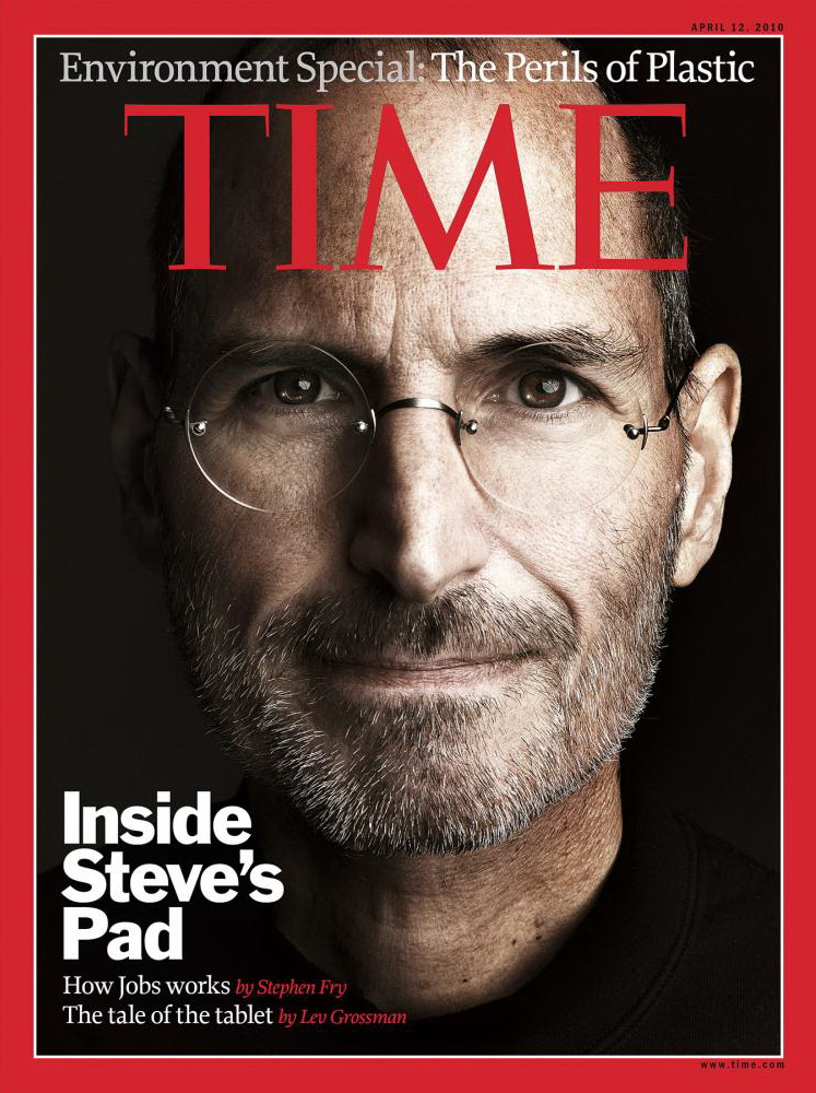 One of Marco Grob's editorial portraits, Apple Computer's CEO Steve Jobs for a TIME cover. Photograph by Marco Grob