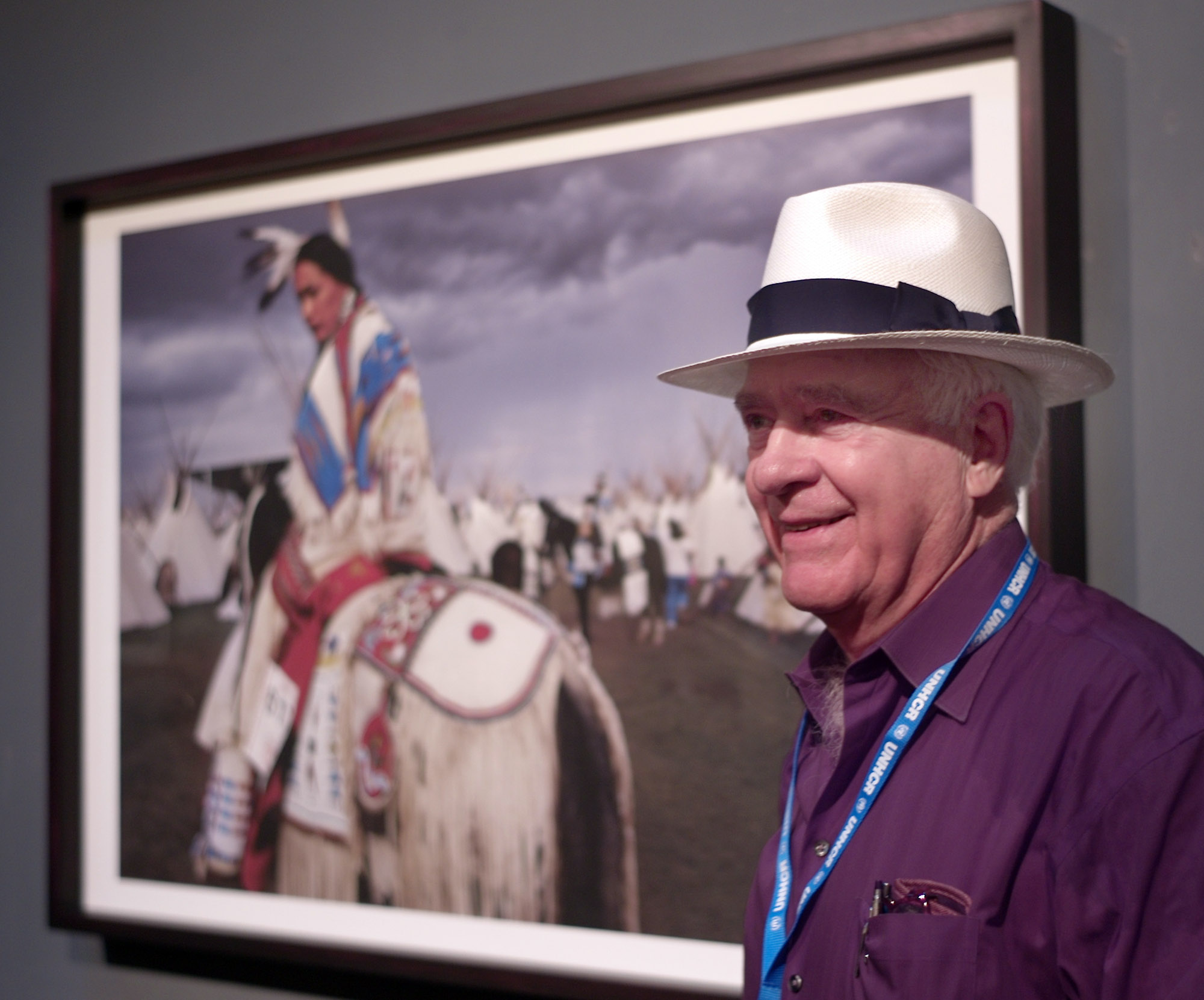 "William Albert Allard, who for more than 50 years has graced the pages of National Geographic magazine with his vision, said that his exhibit at this year's Cortona On The Move photography festival ""may be the best one ever."" Photograph © 2014 by Donald R. Winslow"