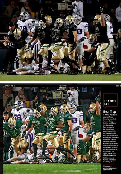Original photograph and Sports Illustrated published page