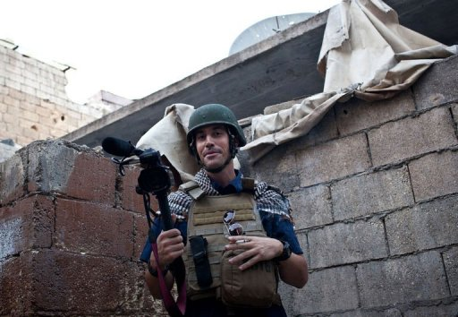 A picture taken on November 5, 2012 in Aleppo shows freelance journalist James Foley. Photograph by Nicole Tung