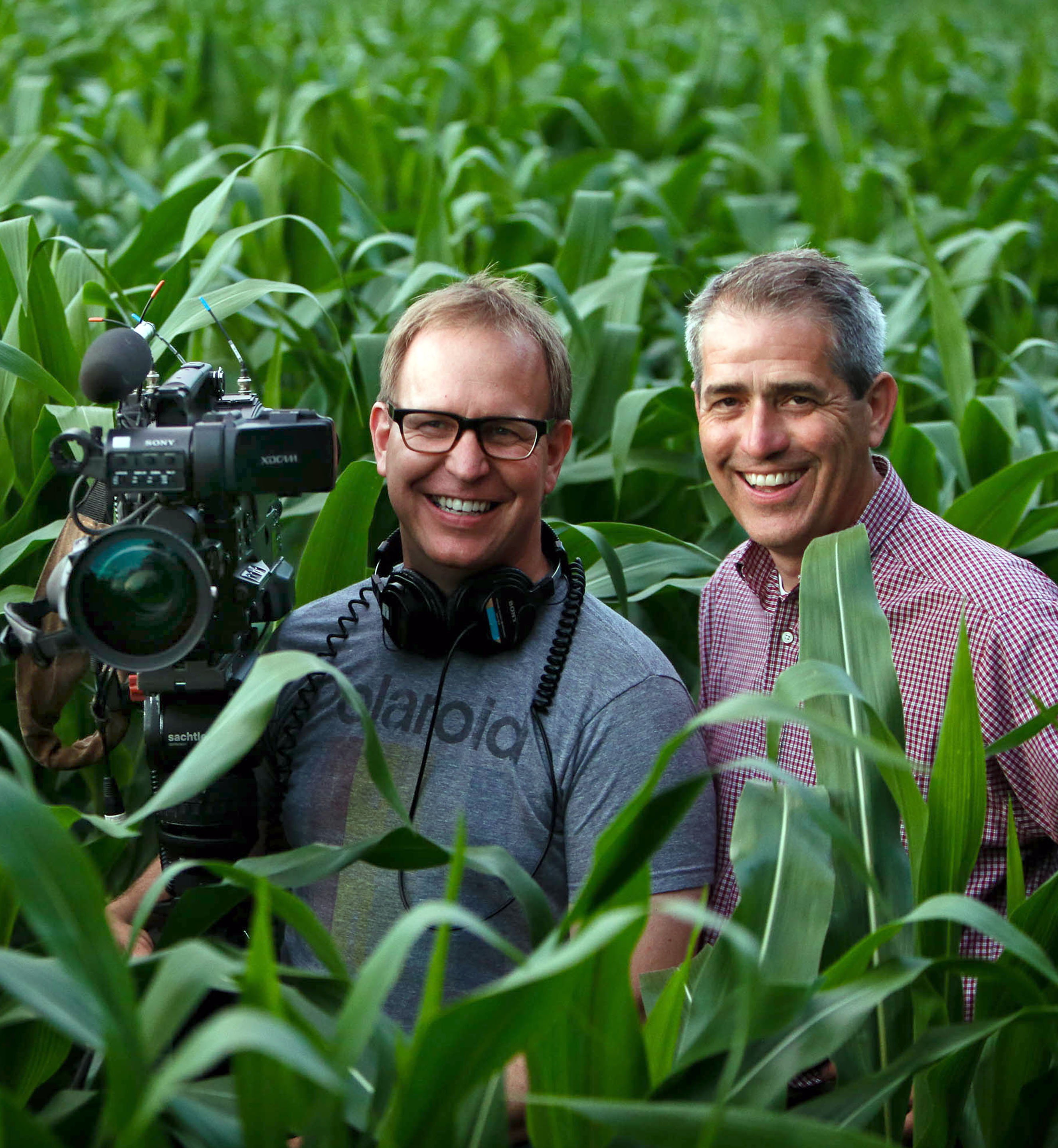 The duo of photojournalist Jonathan Malat, formerly of KARE11-TV in Minneapolis who is now at TV2 in Denmark, and reporter Boyd Huppert of KARE11-TV, are this year's Joseph A. Sprague Memorial Award recipients. Photograph by Ben Garvin