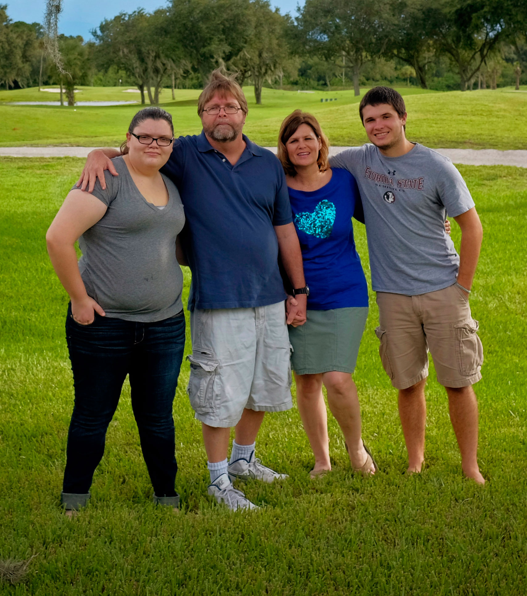Bruce Moyer with his wife, Suzette, and daughter Callie, and son Dakota. Photograph by Edmund Fountain