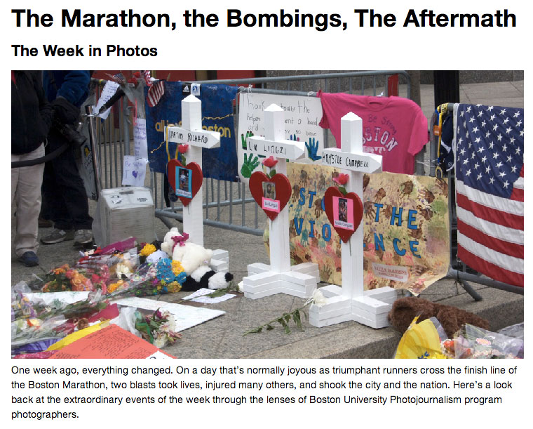 A slideshow of the students' coverage is on the Boston University News Service Web site.