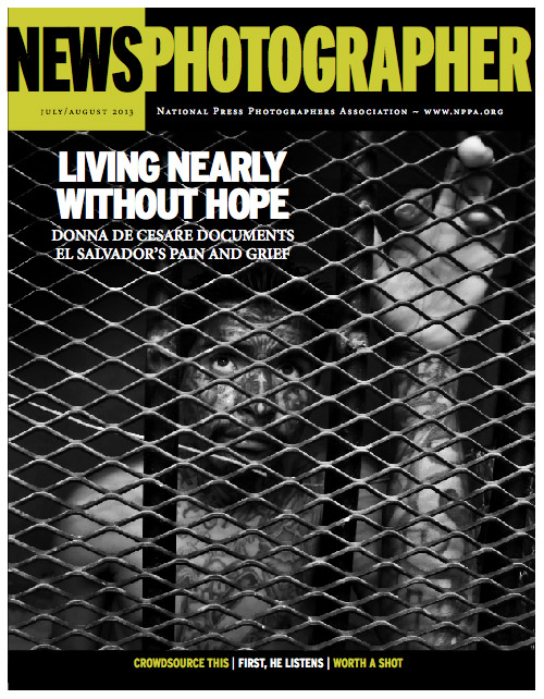 De Cesare's new book is cover story of this month's NPPA News Photographer magazine.
