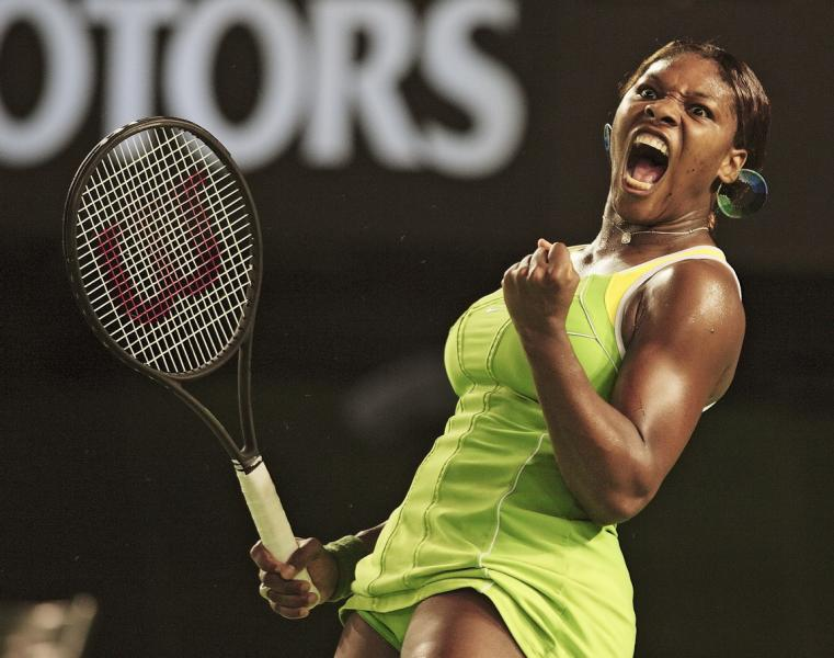 Serena Williams, 2007 Australian Open. Photo by David Callow