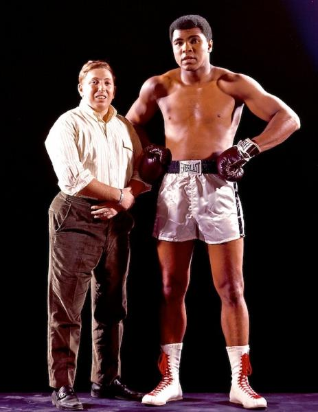Neil Leifer, left, and Mohammad Ali in 1966.