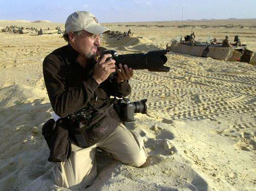 Freelance photojournalist Mannie Garcia, seen on assignment in Egypt.