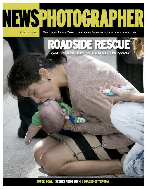 The photographs shot by Miami Herald staff photojournalist Al Diaz of the roadside rescue of a 5-month-old baby who stopped breathing while riding in his aunt's car on a Miami expressway quickly went viral in social media and spread around the world on front pages and telelvision news broadcasts.