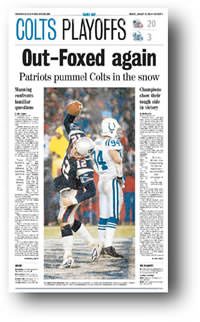[image of winning Sports page from the Indianapolis Star]
