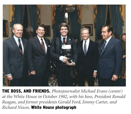 Mike Evans with four presidents