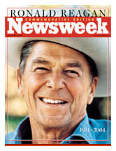 Newsweek cover, Evans photo of Reagan
