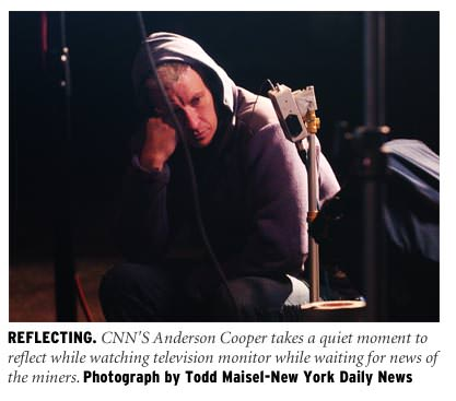 CNN's Anderson Cooper Waits For News