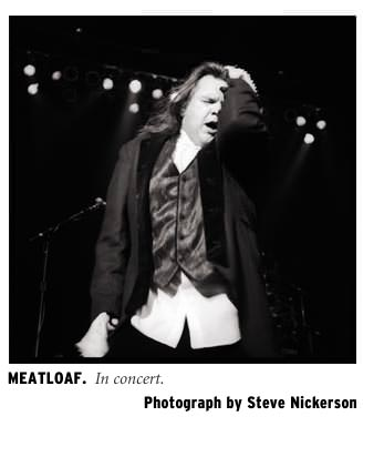 Meatloaf in concert. Photograph by Steve Nickerson