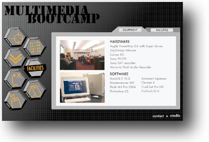 UNC Multimedia Bootcamp Home Page Design
