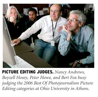 Best Of Photojournalism picture editing category judges.