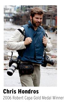 Chris Hondros of Getty Images on assignment.