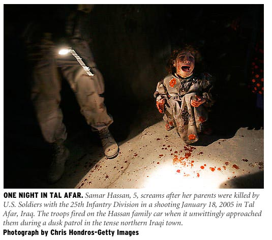 Photo by Chris Hondros, © Getty Images, from Tal Afar, Iraq.