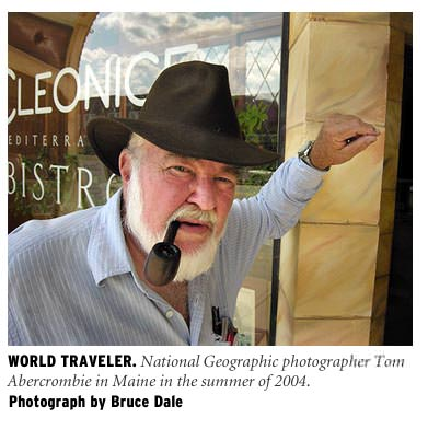 Photojournalist Tom Abercrombie. Photograph © Bruce Dale.