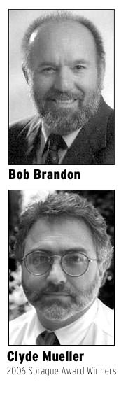 Bob Brandon, Clyde Mueller, Sprague Award Winners