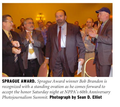 Bob Brandon accepts the Sprague Award