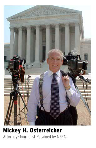Attorney Mickey Osterreicher at the United States Supreme Court in Washington, DC.
