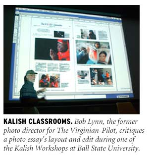 Bob Lynn teaching at The Stan Kalish Picture Editing Workshop at Ball State University in Muncie, IN.