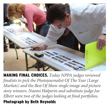 Judging Best Of Photojournalism. Photograph by Beth Reynolds
