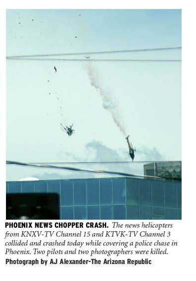 Four Killed In Phoenix When News Choppers Crash | NPPA