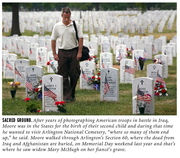 Getty Images photojournalsit John B. Moore in Arlington National Cemetery's Section 60
