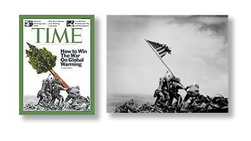 Time cover alters Joe Rosenthal's historic, iconic Iwo Jima photograph