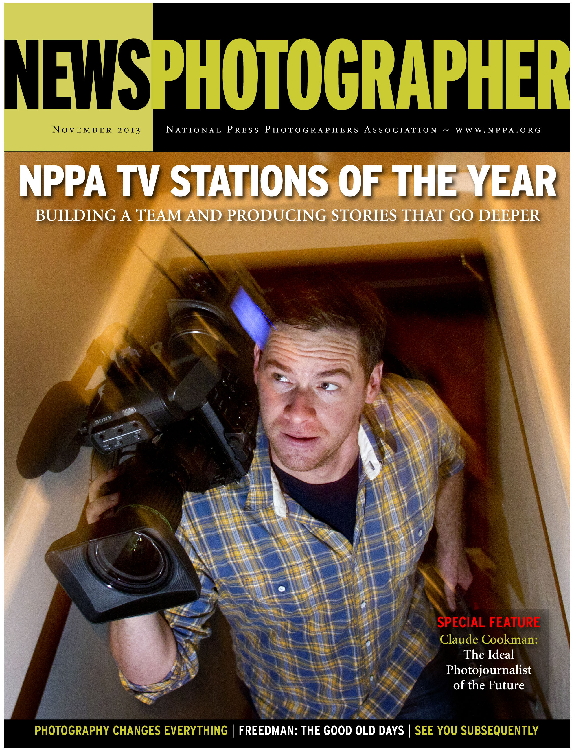 """The Editorial """"Open Up The Oval"""" was published in the November 2013 issue of News Photographer magazine."""