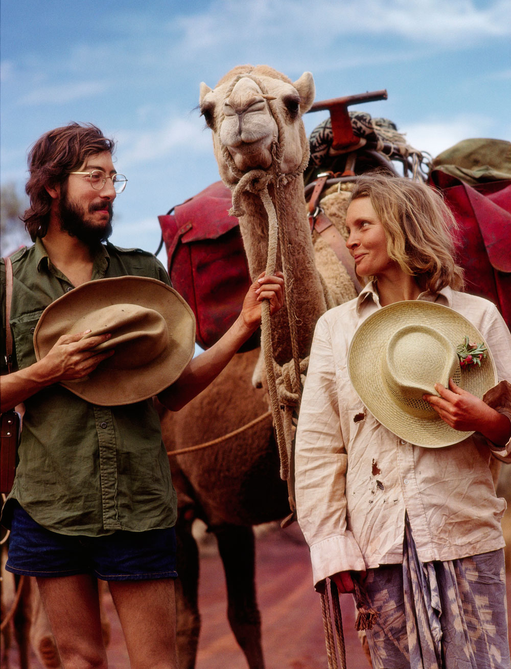 Photojournalist Rick Smolan along with Robyn Davidson in the Outback