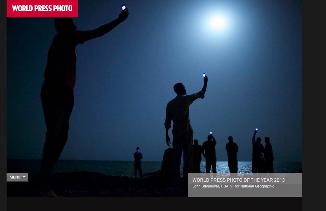John Stanmeyer's winning image from today's announcement of World Press Photo winners, where up to eight or nine percent of the iamges judges picked for the final round were disqualified after being examined by a digital expert.